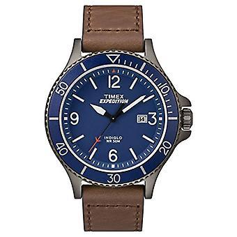 TW4B10700-Timex Herrenuhr mit Quarzwerk, klassischen analogen Zifferblatt und Lederband