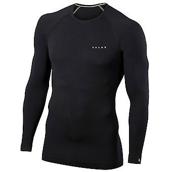 Falke Tight Fit chemise à manches longues - noir