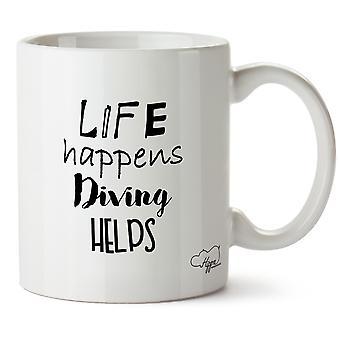 Hippowarehouse vie se passe plongée aide à papier tasse tasse en céramique 10oz