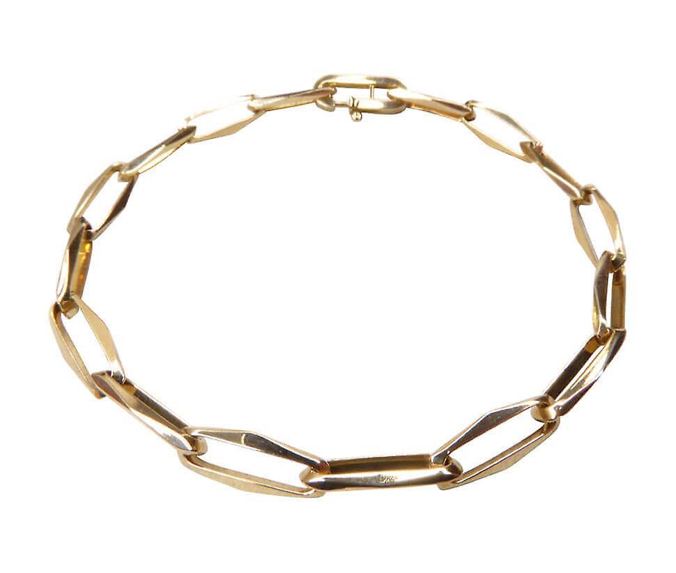 14 karaat geel gouden close forever schakelarmband