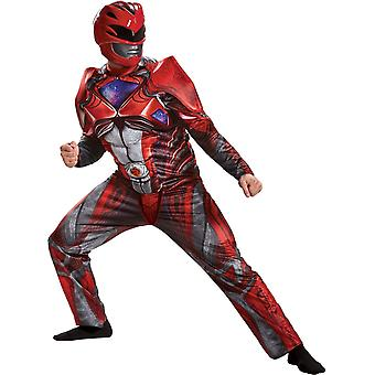 New Red Ranger Adult Muscle Costume