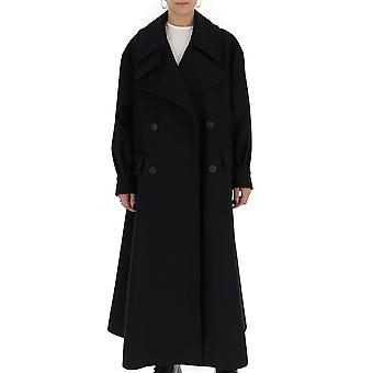 Alberta Ferretti 060357805131v0555 Women's Black Wool Coat
