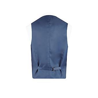 Dobell Mens Black Waistcoat Regular Fit 5 Button