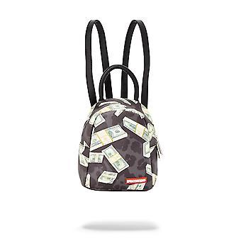 Sprayground Mini Black Leopard Money Print Backpack