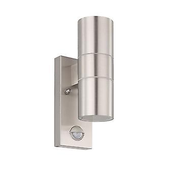 Eglo Riga 5 LED PIR Aço inoxidável para cima e para baixo exterior downlight