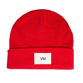 Womens Vero Moda Mari Beanie Hat In Chinese Red
