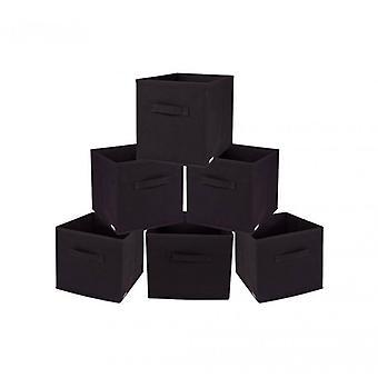 Møbler Rebecca sæt 6 folde beholdere brune kasser TNT 28x26, 5x 26.5