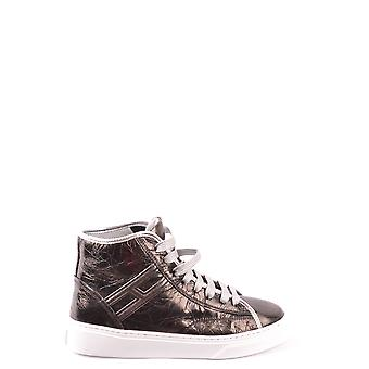 Hogan Ezbc030163 Damen's Silber Leder Hi Top Sneakers