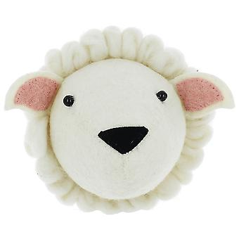 Fiona Walker England Sheep Mini Felt Animal Wall Head