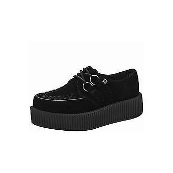TUK Shoes Black Suede Viva Mondo Creepers