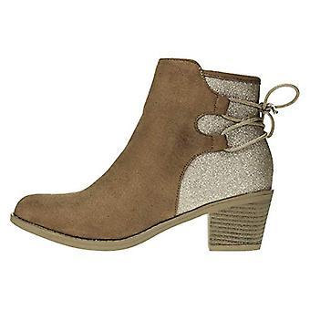 Naisten microsuede nilkkurit nastoitettu hihnat slip-on muoti kengät