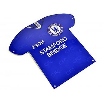 Chelsea FC Shirt Shaped Metal Sign