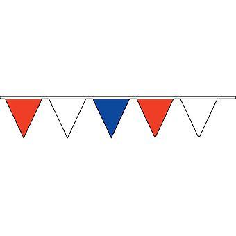 Triangulaire de banderoles rouge, blanche & bleu 900cm