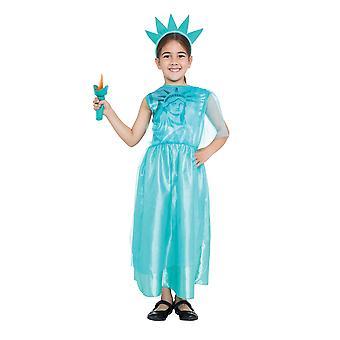 Bristol Novelty Girls Statue Of Liberty Costume Avec torche en peluche