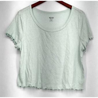 Mossimo XXL Short Sleeve Scooped Neckline Light Weight Top Green Womens