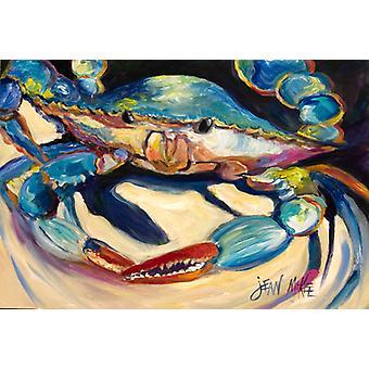 Carolines Treasures  JMK1094PLMT Blue Crab Fabric Placemat
