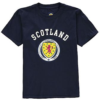 Source Lab Boys Scotland Crest T Shirt Junior Kids