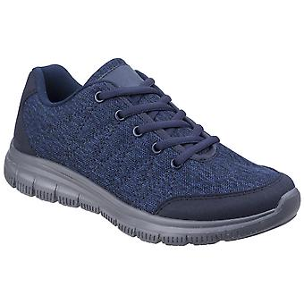 Fleet & Foster Womens Elanor Lace Up Trainer Navy