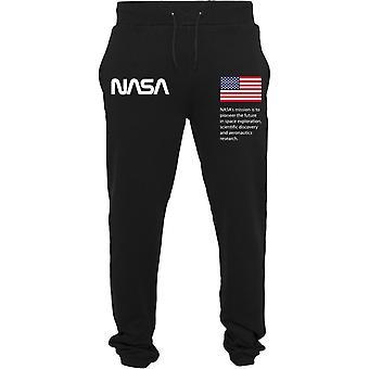 Mister Tee Heavy Sweatpant - NASA Black