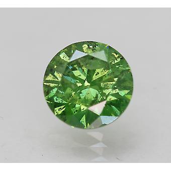 Cert 1.02 Carat Giallo Verde SI1 Rotondo Brillante Migliorato Naturale Diamante 6.52mm