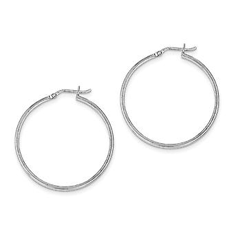 925 Sterling Silver Rhodium plated Rhodium Plated Hinged Earrings Jewelry Gifts for Women