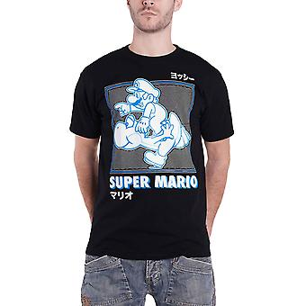 Super Mario T Shirt Running With Yoshi new Official Mens Black