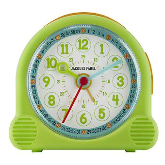 JACQUES FAREL Children's Alarm Clock Alarm Clock Happy Analog Quartz Girl Boys ACL 02 Green