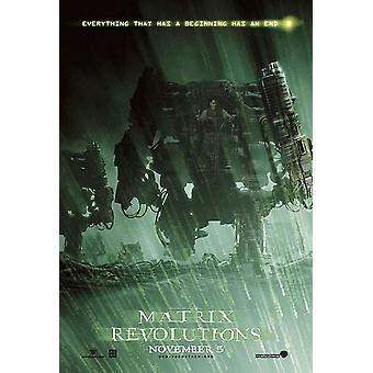The Matrix Revolutions (Double Sided Style D) Original Cinema Poster