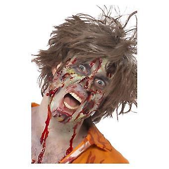 Zombie LaTeX Kit, natural, pintura facial, gel de sangue, látex líquido, horror Flesh acessório vestido extravagante