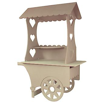 Mini Candy Cart Weddings Sweets Stall Birthday Christening Favours Stand MDF Wood