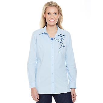 Amber Ladies Embroidered Cotton Shirt