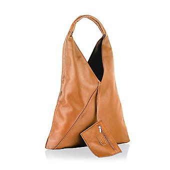 "18"" Leather Tote Bag With Attached Purse Single Shoulder Carry Handle"