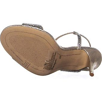 INC International Concepts I.N.C. Women-apos;s Renita Strappy Sandals Pearl Gold S...