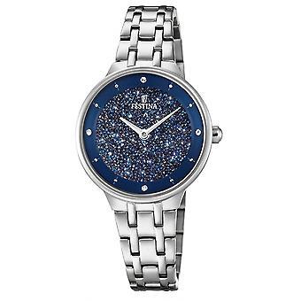 Festina F20382-2 Women's Mademoiselle Silver Tone Wristwatch