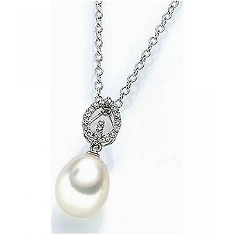 Luna-Pearls South Sea Beads Pendant with Diamonds M_S3_AH