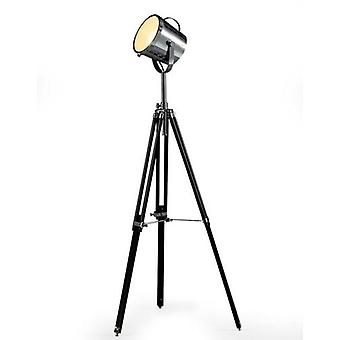 Victoria Tripod Floor Lamp In Black And Chrome