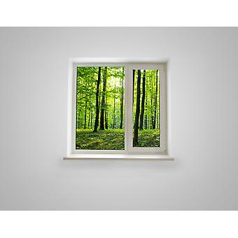 Full Colour Woodland Window Wall Sticker