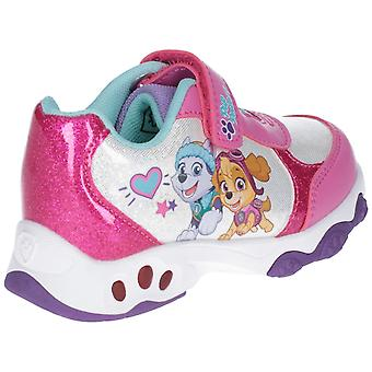 Leomil Paw Patrol Childrens Girls Skye And Everest Light Up Trainers