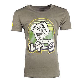 Nintendo Super Mario Bros. Luigi T-skjorte mannlig medium grønn (TS206281NTN-M)