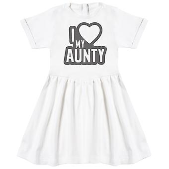 I Love My Aunty Negro Outline Baby Dress