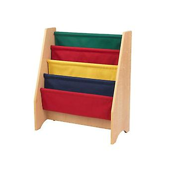 KidKraft Wooden magazine holder and multicolored fabric
