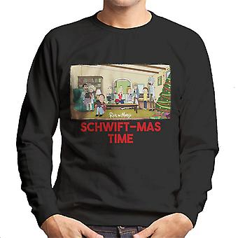Rick and Morty Schwiftmas Time Technology Takeover Men's Sweatshirt