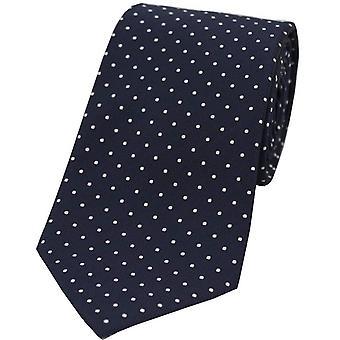 David Van Hagen Pin Dot Polyester Tie - Blue