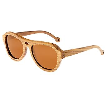 Earth Wood Coronado Polarized Sunglasses - Brown Zebra/Brown