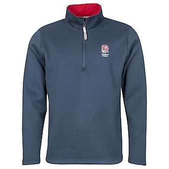 England RFU Rugby Kids Zip Neck Jersey Knit | Navy