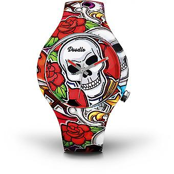 Watch Doodle SKULL MOOD DOSK003 - green 39mm male/female
