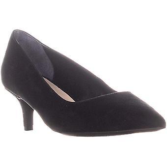 Alfani A35 Marshaal Pointed Toe Slip On Kitten Heels, Black