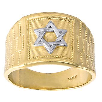 10k Two tone Gold Mens Star Of David Religious Ring Size 7  Measures 14x6.80mm Wide Jewelry Gifts for Men