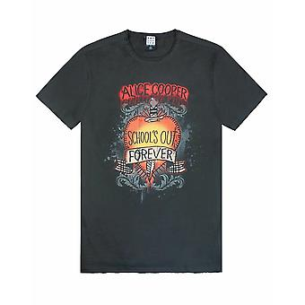 Amplificado Alice Cooper escolas fora mens t-shirt