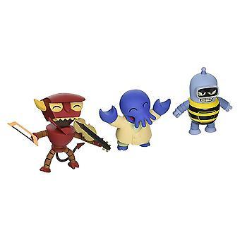 Futurama Tineez Series 1 Ver2 Three Piece Figure Set